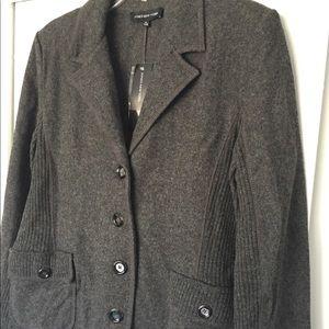 Jones New York XL Wool Sweater Blazer